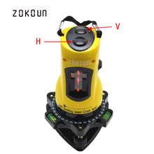 ZOKOUn M02H 360 degrees rotary slash functional self-leveling hight adjustable DIY economic 2 (1V, 1H) cross lines laser level(China)