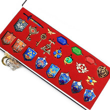 Takerlama The Legend of Zelda Hylian Shield Sword Props Keychain Necklace 22pcs Collection Set Cosplay Weapons Props(China)