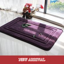 60cm*90cm New arrival 7colors available bath mat/ bathroom rug mat carpet floor rug toilet mats Solid for bathroom Free Shipping