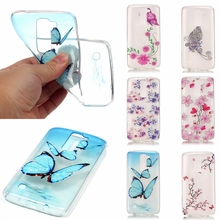 Transparent TPU Fashion Butterfly Phone Case Cover sFor Coque LG K7 / LG K8 / LG K10 Silicone Clear With Design Capa Fundas(China)