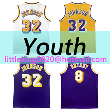 New Youth Kid Magic johnson Jersey High quality 100% Stitched Bryant basketball jersey Embroidery Free Shipping