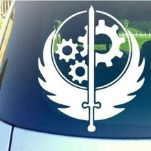 "Car Styling Fallout Brotherhood Of Steel 6""  Vinyl Car Truck Decal Sticker Video Games PS3 XBOX PC Awesome Cool Fun Gamer Pride"