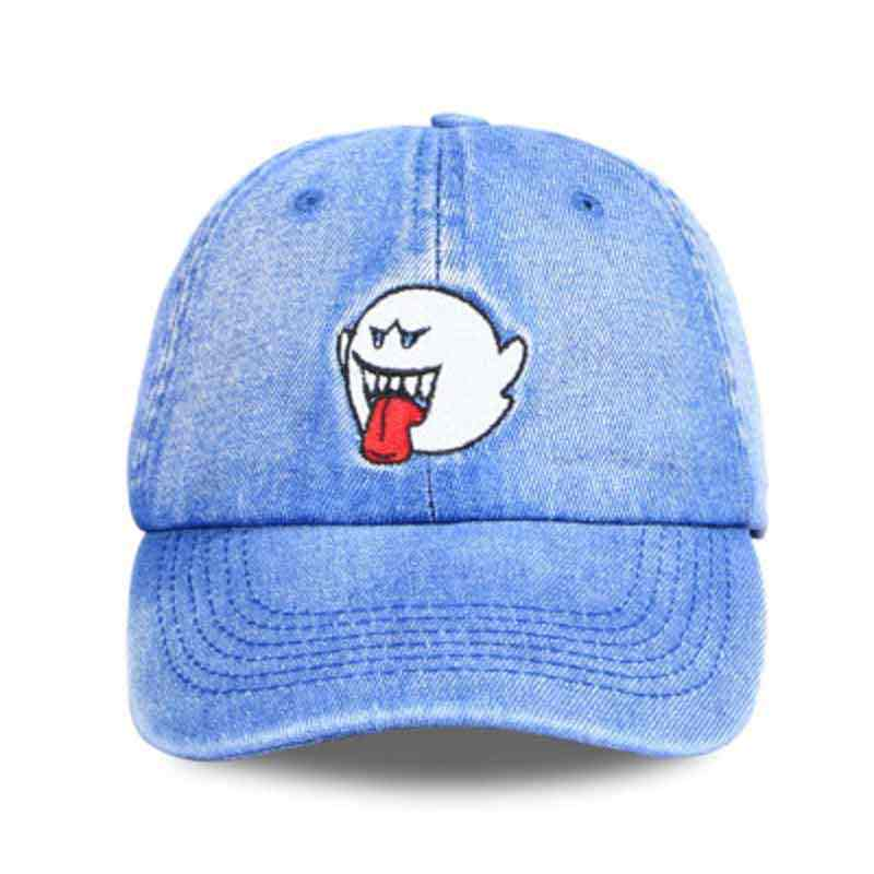 Detail Feedback Questions about Factory sells directly Fashion Dad Hats  Black Denim Embroidery Ghost Tongue Baseball Cap men Funny Cap women sun hat  on ... 62ee2cb40f92