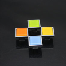 Orange/Blue/Green/Yellow Square Knobs Modern Door Knobs Colorful Drawer Knobs Kitchen Cabinet Hardware Dresser Knobs()