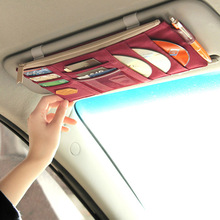 new car visor closed driving hanging CD packages Multifunction Sun Visor Card storage Bag Organizer Arrangement Bag Vehicles