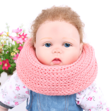 1PCS Children Baby Girls Neck Bib Scarfs Kids Crochet Knitted Collar Winter Warm Neckerchief Multicolor Soft Scarf