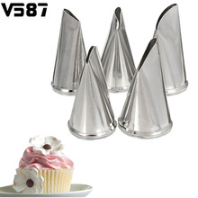 5Pcs/Set Rose Petal Stainless Steel Icing Piping Nozzles DIY Cake Cream Decorating Tips Baking Bakeware Cupcake Pastry Tools(China)