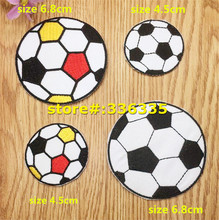 New arrival mixed 20 pcs Football symbol Iron On sew on Patches TS garment Appliques accessory free shipping 150712