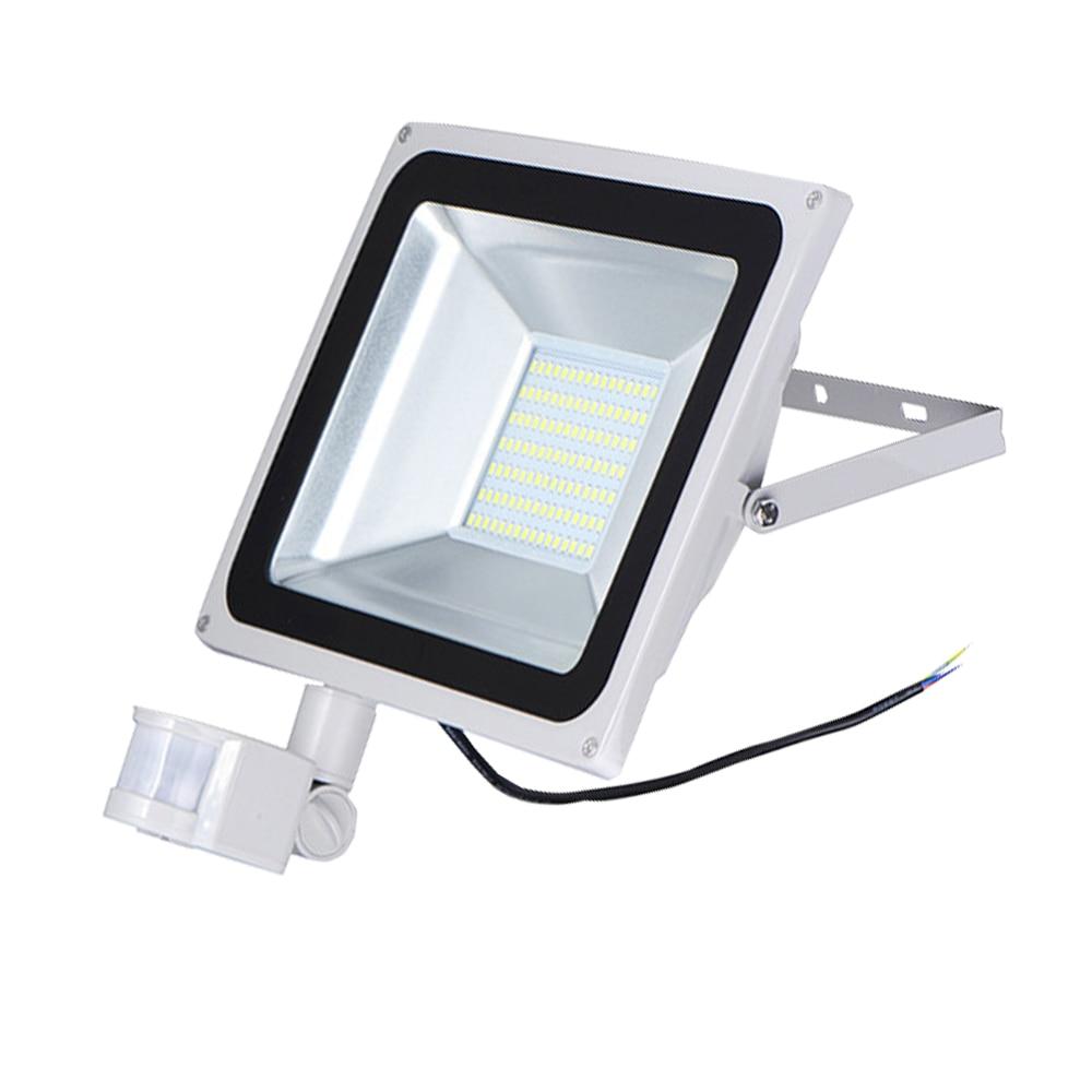 10W 20W 30W 50W PIR Motion Sensor LED Floodlight Induction Sense Outdoor Spotlight Flood Light IP65 White Warm White 85-265V<br><br>Aliexpress