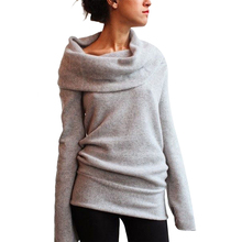 Hot New Women Autumn Winter Long Sleeve Casual Pullover Turtleneck Knitted Sweater Coat Sexy Jumper Tops Jersey Mujer F15(China)