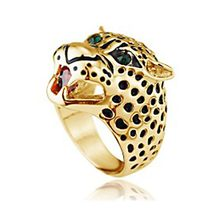Leopard Ring - New Arrival Creative Cheetah Leopard Ring Jewelry Domineering #1585650(China)