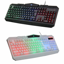 Rainbow luminous keyboard Computer USB wired backlit keyboard light 104 keyboard-Z01