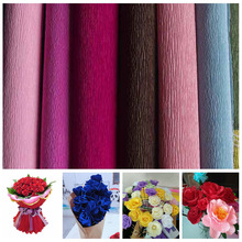 DIY Flower Bouquet Crepe Papers Wrapping Flowers Packing Material Handmade Diy Wrapping Paper Craft Crinkled Paper Decor