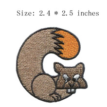 "Fox 2.4""wide new fonts embroidery patch  for ribbon cushion/patch army/fiber optic fabric"