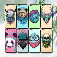 Top seling Panda/lion/ Skull/Bear/Deer/Cow Head hard plastic Phone Case Cocer for iphone 5 5c 5s 6 6s 6s plus 7 7plus