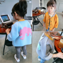 2017 New Spring Coat Girls Baby Cardigan Girls Coats Children Long Sleeved Spring