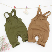 ZTKIDS Top Qulaity!Baby Cute Solid Overalls Toddler Suspender Pants Summer Spring Clothes For Boys/Girls Baby Lovely Rompers(China)