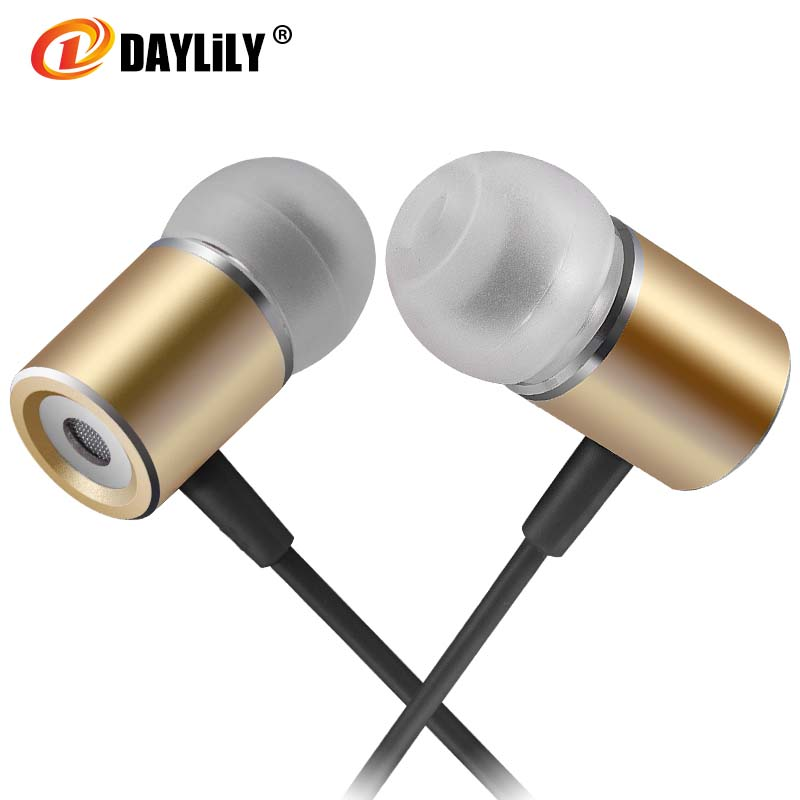 Daylily headphones microphone fone de ouvido Sport earphone  auriculares phone  bass Earphones Metal magnet music headset pc<br>
