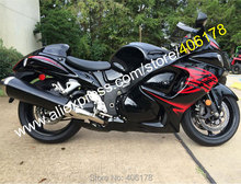 Hot Sales,2011 2012 2013 For Suzuki GSX-R1300 2008-2013 Hayabusa GSXR 1300 Red Black Sportbike Fairing Kit (Injection molding)(China)