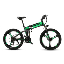 Cyrusher XF700 Unisex Folding Electric Bike Mountain Full Suspension 250 Watt 36V 21 Speeds Ebike for Outdoor Recreation Bicycle(China)