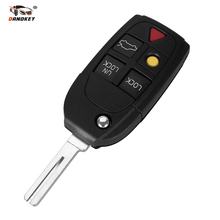 DANDKEY 5 Buttons Remote Flip Folding Key Shell Case Fob Keyless For Volvo XC70 XC90 V50 V70 S60 C30 Free Shipping(China)