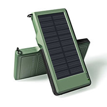 YFW Dual Output Pover Bank 10000mAh External Solar Battery Charger Waterproof Portable Charger For iPhone& Type-C&Android Phones(China)
