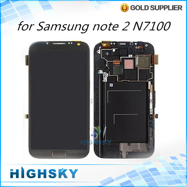For Samsung Galaxy Note 2 N7100 LCD screen display with touch digitizer with frame assembly 1 piece free HK post<br><br>Aliexpress