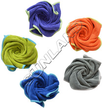 50pc/lot 36cmx36cm Microfiber Kitchen Towels Micro Fibre Cleaning Cloth Funiture Dust Rag(China)