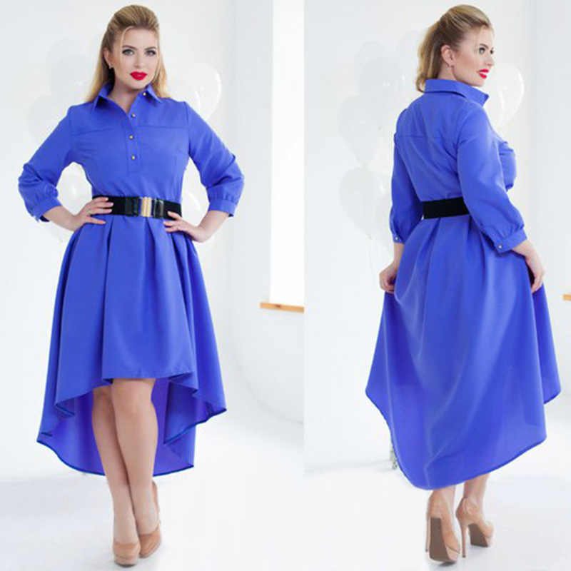 Big size 6XL 2018 Fat MM Woman dress Autumn long sleeve Elegant Loose patchwork  dresses plus a7d454789950