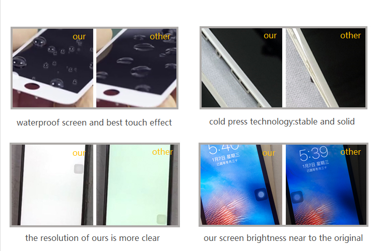 iPhone LCD compare