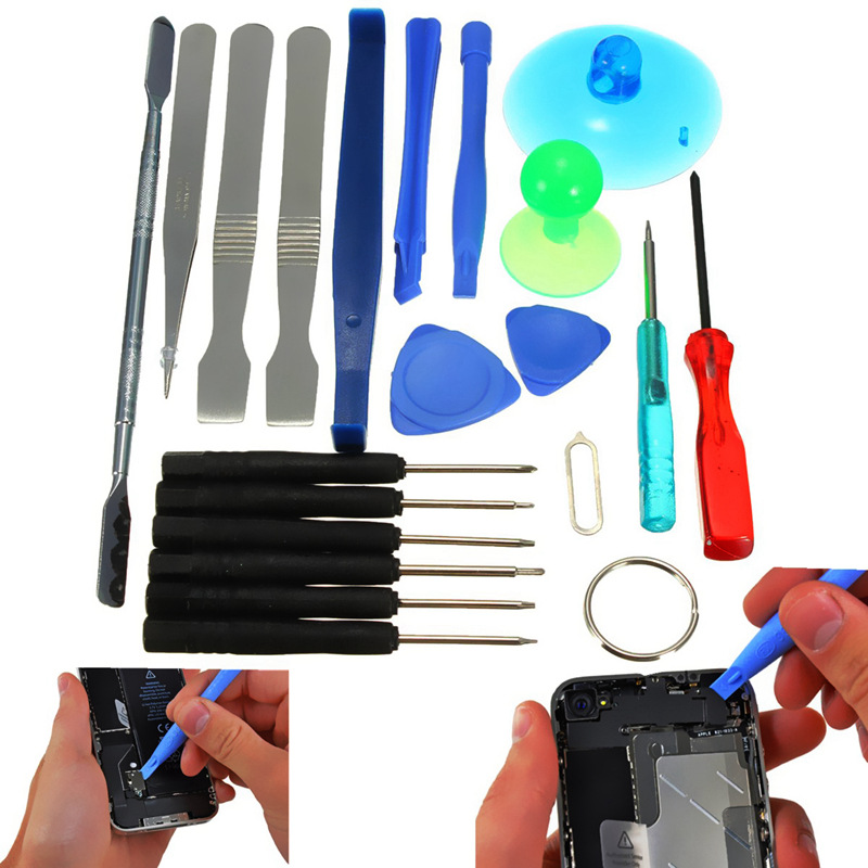 HOT 21 in 1 Repair Tool Kit Screwdriver Phone Screen Opening Pliers Pry Hand set for iPhone 6 6s 7plus for Samsung Huawei Xiaomi