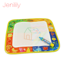 Jenilily Toys Mini Doodle Water Writing Painting drawing mat board Multicolor for kids With Magic Pen 29X29.5cm JN2311-1(China)