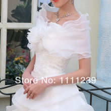 New Ivory 3 Layers Wedding Shrug Bolero Coat Bridal Shawl Wraps Jackets DS0544