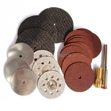 21pc cutting kit Emery alloy cutting discs/Small toothed saw blade/Dual-network/Resin sliced/Slice link free shipping