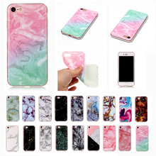 Marble Patterned Back Silicone Rubber Soft Case Cover Bumper For iPhone 7 7Plus 6G 6S Plus 5G 5S SE 4S 5C For iPod Touch 5 6