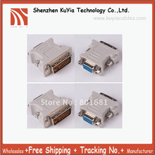 Free shipping DVI to VGA Cable,DVI DVI-I (M) to VGA (F) video converter/adapter +Tracking number