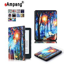 eAmpang magnet Flip leather case cover for new kindle 2016 8th generation fundas for amazon kindle 8 Generation 2016 cases