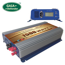 1500W Wind Grid Tie Inverter with LCD/Dump Load Controller for 45-90v wind turbine AC 220V 230V 240V 3 phase generator