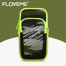 FLOVEME Arm Band Phone Case For iPhone 8 6 6S 7 Plus Breathable Double Pouch Running Brand Sports Bag Mobile Phone Accessories(China)