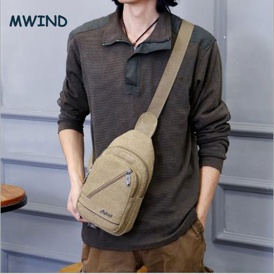 2017 Cloth shake Retro new sport Men's Canvas bag Shoulder Back pack Sling Chest Bag for travel(China (Mainland))