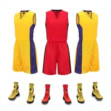 Men' Basketball Suits Game Training Jerseys Uniforms Sets Breathable comfortable soft Basketball Running sleeveless Sports kits