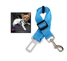 2.5cm Wide Nylon Fabric Sky Blue Pet Car Safety Seat Belt Used for Cats Dogs Suitable for All Kinds Of Vechicles