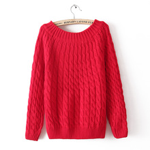 2016 Hot New Autumn Winter Women Fashion Cotton Elastic Sweater Lady Knitted Long Sleeve O-neck Woolen Pullovers