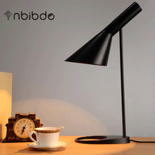 Replica Louis Poulsen Arne Jacobsen Table lamp Black White for Option Europe AJ Desk Lamp Cafe Aisle Hall read Lamp LED bulb E27(China)