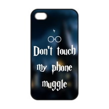 Harry Potter Wizards Don't Touch My Phone Muggle Plastic Coque Cover Case for iPhone 4 4S 5 5S 5C SE 6 6S 7 8 Plus X 10(China)