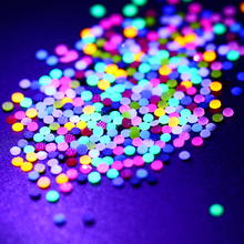 360Pcs Fluorescent Candy Color 3D Nail Decoration in Wheel Luminous Resin Nail Art Rhinestones AB Flat Bottom UV Gel Polish