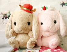 Lolita Plush Rabbit 40cm Cute Soft Lop Bunny Cosplay Princess Sweet Doll Loppy Bunny Shy Bunny Christmas Style Children's Gift(China)