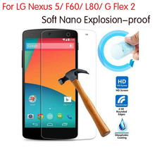 Buy Newest Soft Explosion-proof Nano Protection Foil Film LG Nexus 5 F60 L80 G Flex 2 F510L Cover Tempered Glass for $1.44 in AliExpress store