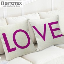 42*42cm/16.5*16.5'' Cushion LOVE Decorative Cushions Home Printed Pattern Almofada 1 pcs/lot(China)
