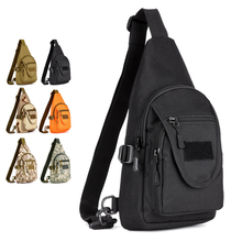 "Outdoor Simple Shoulder Bags Climbing Travel Camping Hunting Cycling Camo Nylon Tactical Chest 8"" Tablet PC pack(China)"
